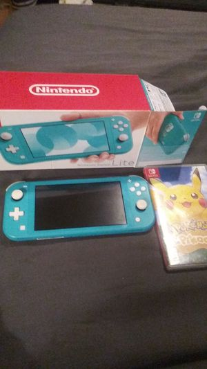 Nintendo Switch LTE with pikachu lets go game for Sale in Fenton, MO