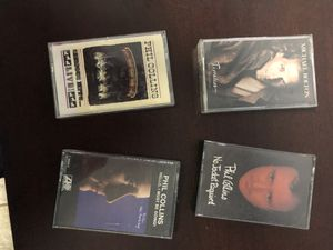 Phil Collins and Michael Bolton Cassettes- titles are pictured for Sale in Griswold, CT