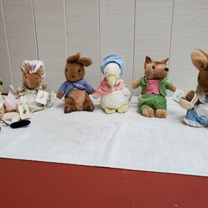 Beatrix Potter Stuffed Toys--vintage, collectable! for Sale in Lakewood, WA