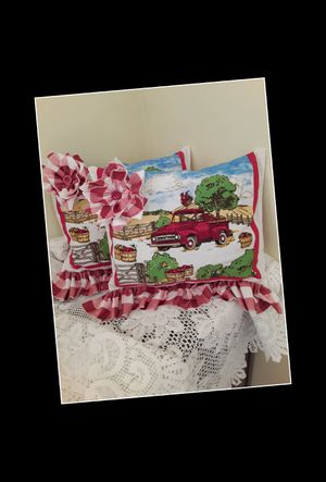 Red truck throw pillows for Sale in Evansville, IN
