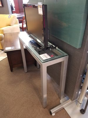 Glass and chrome console table for Sale in Houston, TX