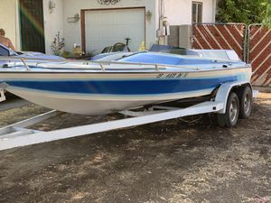 I/o Open bow boat day cruiserChevy 350 Volvo 280 outdrive trailer stainless steel prop ready to go for Sale in Oak Glen, CA