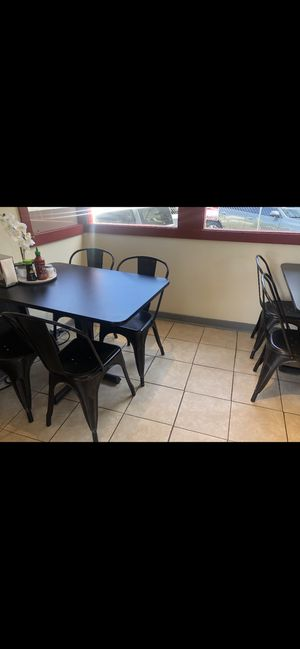Black 4-top Restaurant tables for Sale in Seattle, WA