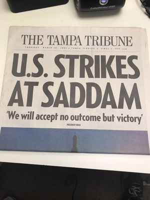 Tampa Tribune March 20th 2003 for Sale in Tampa, FL