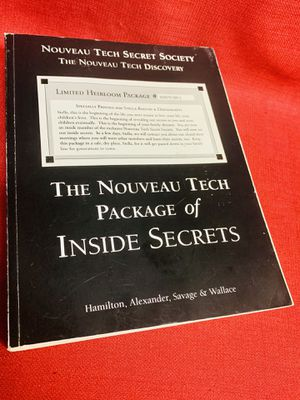 Nouveau Tech Secret Society Package of Inside Secrets Paperback Book Hamilton for Sale in Las Vegas, NV
