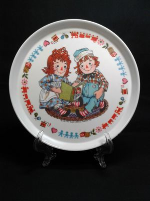 Vintage Raggedy Ann & Andy Kids Melamine Plate for Sale in Peoria, AZ