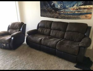 Ashley furniture Couch and recliner sofa for Sale in Santa Ana, CA