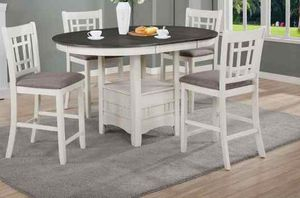 Counter height dining table set. New in boxes. Price firm O1 for Sale in Ontario, CA