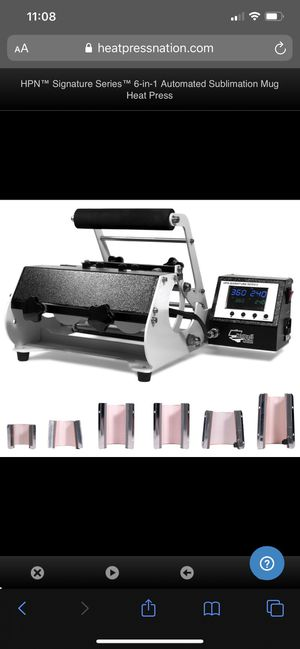 HPN™ Signature Series™ 6-in-1 Automated Sublimation Mug Heat Press for Sale in Hialeah, FL