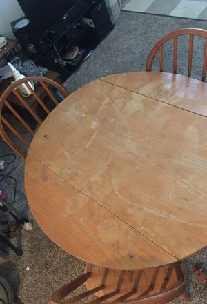 3 Chair foldable Kitchen Table Set for Sale in Pickerington, OH