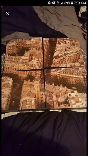 4 pc. Canvas photo set for Sale in Norfolk, VA