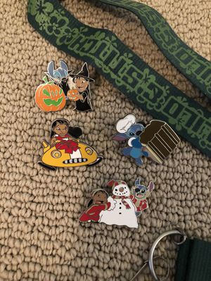 Disney Lilo & Stitch Lanyard & Trading Pin Set for Sale in Santee, CA