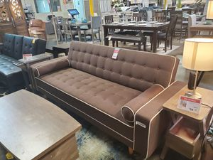 SPL Sofa Bed / Futon with Pillows, Brown for Sale in Westminster, CA
