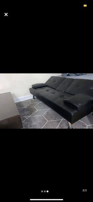 New Adjustable Faux-Leather Couch/Futon for Sale in Brooklyn, NY