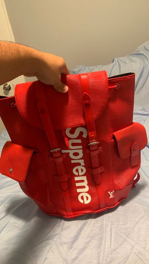 Supreme x Louis Vuitton Epi Christopher PM red back pack for Sale in Miami, FL
