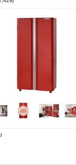 Husky 36 in. W x 72 in. H x 18 in. D Steel Tall Garage Cabinet in Red for Sale in South Orange,  NJ