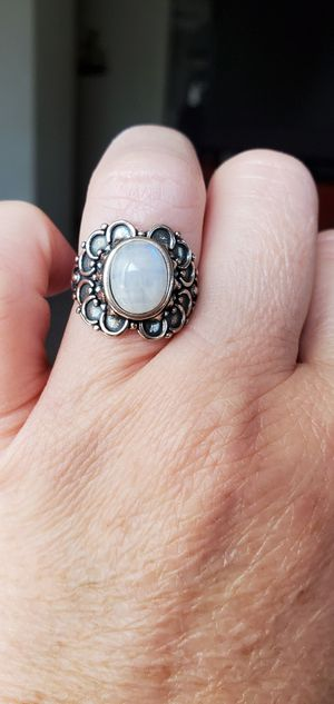 New Beautiful .925 silver🌙 moonstone ring size 7. Others listed for Sale in Long Beach, CA