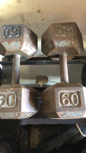 60 POUND HEX DUMBBELL WEIGHTS for Sale in Deerfield Beach, FL