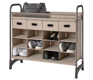 neatfreak! Heavy Duty 16 Cubby Shoe Organizer storage w Drawers for Sale in Las Vegas, NV