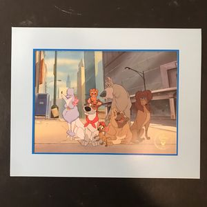 Disney's OLIVER & COMPANY, Exclusive Commemorative Lithograph 1996, new with it's original packaging for Sale in Westlake, MD