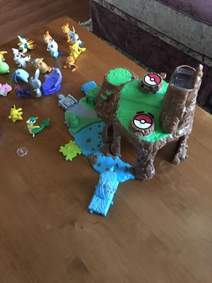 Pokémon play set - includes all Pokémon shown for Sale in Rancho Cucamonga, CA