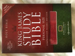 Leather cover King James study bible, new. for Sale in Wakefield, MA