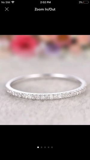 925 sterling silver plated band ring women's jewelry for Sale in Silver Spring, MD