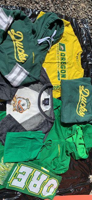 Oregon Ducks Columbus jacket sweatshirt T-shirt scarf lot of 7 items for Sale in Prineville, OR