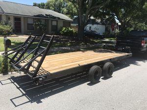 18 x 6.5 feet heavy duty dual axle car trailer hauler for Sale in Palm Harbor, FL