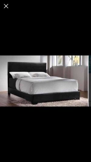 Queen bed frame with mattress and box spring included 260$ only ready for delivery for Sale in Chicago, IL