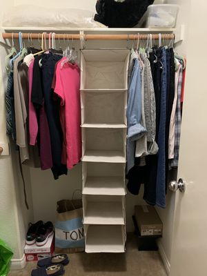 Hanging closet organizer for Sale in Beaumont, CA