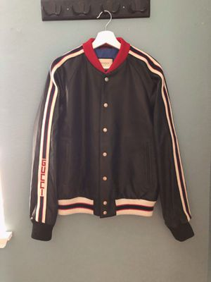 Gucci Hollywood lamb leather baseball jacket for Sale in Temecula, CA