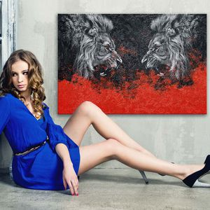Lion Modern Wall Art 700+ Museum Quality Canvas Paintings. Sizes Start @$89/ONLY $22 down! 👉ArtworkAddict(dot)com for Sizes+Sales! EZ Returns+💰Back! for Sale in Miami, FL