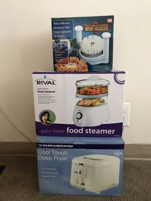 All new food steamer, cool touch deep fryer and onion machine for Sale in Washington, DC
