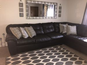 Sectional black cauch sofa 1 and half year for Sale in Attleboro, MA