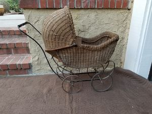 Antique 19th Century Wicker Baby Doll Buggy for Sale in Lake Forest, CA