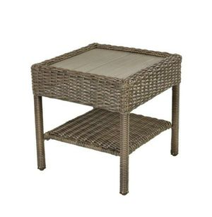 Side Table Patio Square Grey Wicker for Sale in Palm Springs, FL
