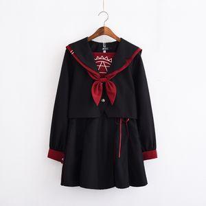 Japanese jk uniform skirt dark sailor suit jks female cool for Sale in Bradenton, FL