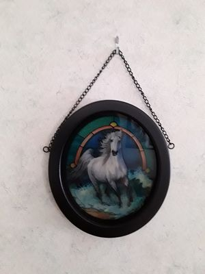 Horse Stained Glass,,,8x9,,, for Sale in Linden, PA