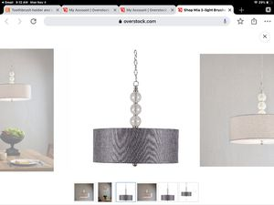 Mia 3 light brushed steel pendant light fixture chandelier for Sale in Miami, FL