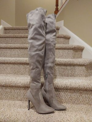 New Women's Size 5 Grey Boots Thigh High [Retail $190] for Sale in Woodbridge, VA