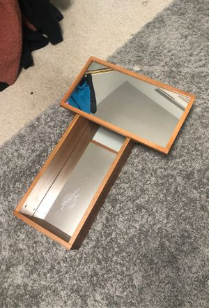 Wood shelf with mirror for Sale in Arvada, CO