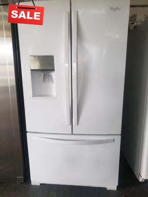 🚀🚀🚀French Door 3-Door Refrigerator Fridge Whirlpool Free Delivery #1400🚀🚀🚀 for Sale in Fontana, CA