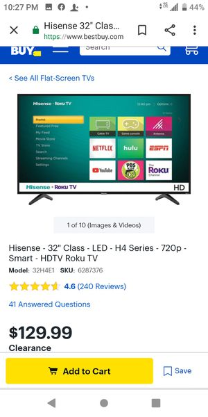 BRAND NEW HISENSE ROKU 32 INCH TV for Sale in Wichita, KS