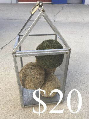 Hearth and hand metal galvanized glass candle holder house for Sale in Ontario, CA