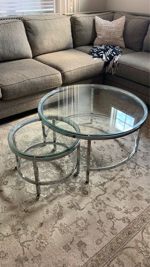 Glass Top Nesting Cocktail Tables for Sale in Duncan, SC