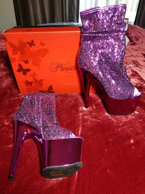 Size 9 purple sequin heels for Sale in Alameda, CA