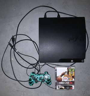 SONY PLAYSTATION 3 PS3 CONSOLE SYSTEM WITH ALL CORDS, REMOTE CONTROLLER & VIDEO GAME for Sale in Las Vegas, NV