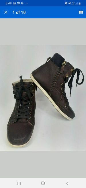 Aldo Briewiel Men's High Top Ankle Boot Brown Leather Warm And Comfy Size 9 for Sale in Henderson, NV