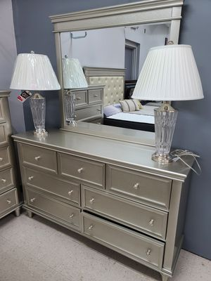 10 pc king bedroom set with brand new mattress set for Sale in Greensboro, NC
